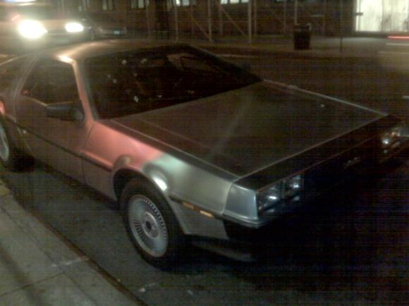 Its a DeLorean! Whoaaaa!